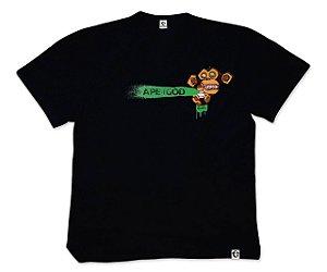 Camiseta APe of GOD vs Robson Melancia preta