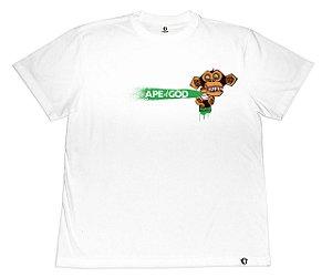 Camiseta APE of GOD vs Robson Melancia branca