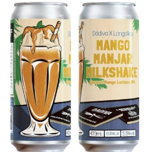 Cerveja Dádiva + Longslice Mango Manjar Milkshake American Pale Ale C/ Coco, Manga e Lactose Lata - 473ml