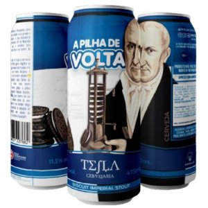 Cerveja Tesla A Pilha de Volta Imperial Pastry Stout C/ Biscoito Oreo Lata - 473ml