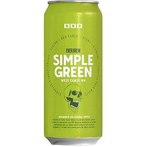 Cerveja EverBrew Simple Green West Coast IPA Lata - 473ml