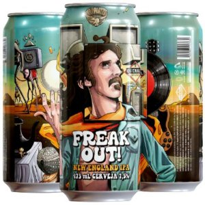Cerveja Overall Freak Out! DDH New England IPA Lata - 473ml