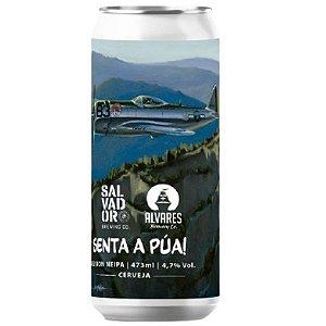 Cerveja Salvador Brewing Co + Alvares Brewing Senta a Púa Session NEIPA Lata - 473ml