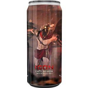 Cerveja Spartacus Icon Choco Macaroon Imperial Pastry Stout C/ Coco Caramelizado e Cacau Amazônico Lata - 473ml