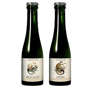 Cerveja Kit Cerveja + Hidromel Three Monkeys Rare Monkeys Collection  Rare Mix (Argentatus + Saimiri) 2 garrafas - 375ml