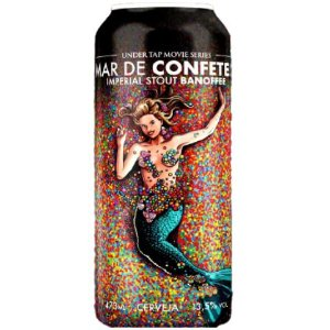 Cerveja Under Tap Mar de Confetes Banoffee Imperial Pastry Stout C/ Banana, Canela e Doce de Leite Lata - 473ml