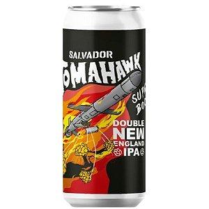 Cerveja Salvador Brewing Co Tomahawk Super Boost Double New England IPA Lata - 473ml