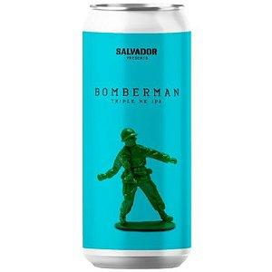Cerveja Salvador Brewing Co Bomberman Triple New England IPA Lata - 473ml