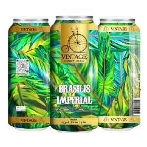 Cerveja Vintage Craft Beer Brasilis Imperial Dry Hopped Imperial Gose C/ Abacaxi, Manga e Cumaru Lata - 473ml