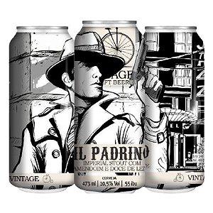 Cerveja Vintage Craft Beer Il Padrino Imperial Stout C/ Amendoim e Doce de Leite Lata - 473ml