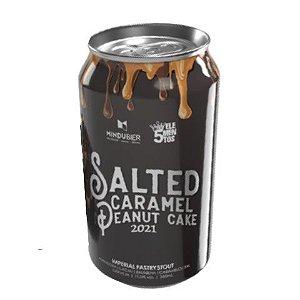 Cerveja Mindubier + 5 Elementos Salted Caramel Peanut Cake 2021 Imperial Pastry Stout C/ Amendoim, Cacau, Baunilha e Caramelo Salgado Lata - 350ml