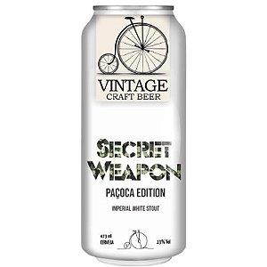 Cerveja Vintage Craft Beer Secret Weapon Paçoca Edition Imperial White Stout C/ Café e Paçoca Lata - 473ml