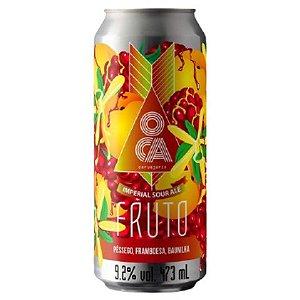Cerveja Oca Fruto Pêssego, Framboesa e Baunilha Imperial Sour Lata - 473ml