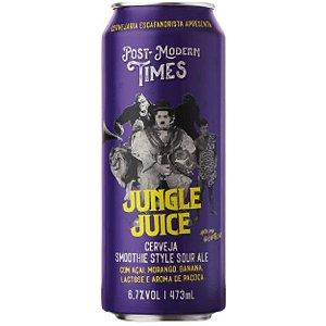 Cerveja Escafandrista Post Modern Times Jungle Juice Smoothie Sour Ale C/ Açaí, Morango, Banana, Lactose e Paçoca  Lata - 473ml