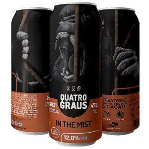 Cerveja Quatro Graus In The Mist Wheatwine C/ Amendoim e Cacau Lata - 473ml