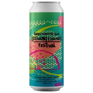 Cerveja Three Monkeys + Spartcus BFF21 Summertime In Rio New England Triple IPA C/ Lactose, Óleo Essencial de Laranja e Grapefruit e Baunilha Lata - 473ml