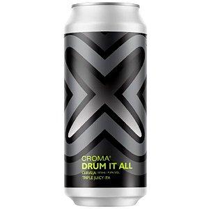 Cerveja Croma Drum It All Triple Juicy IPA Lata - 473ml