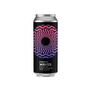 Cerveja Croma Waves Berliner Weisse C/ Goiaba e Uva Bordô Lata - 473ml