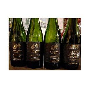 Kit Cerveja Avós & Jack's Abby Good Night Granny (Pura, Sassafrás, Jequitibá Rosa e Amburana) Baltic Porter 4 Garrafas-375ml