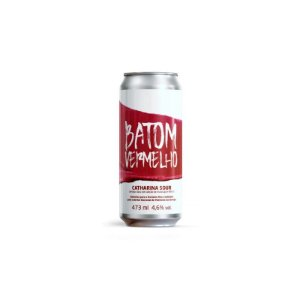 Cerveja Dádiva Batom Vermelho Catharina Sour C/ Maracujá e Hibisco Lata - 473ml