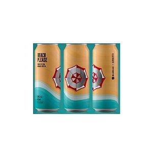 Cerveja Suricato Ales & 2 Cabeças Beach Please Sour IPA C/ Mamão Lata - 473ml