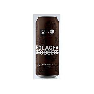 Cerveja Treze & 2 Cabeças Bolacha Imperial Brown Ale C/ Baunilha e Cacau Lata - 473ml
