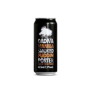 Cerveja Dádiva + Maniba Smoked Puddin Porter com Calda de Pudim Lata - 473ml