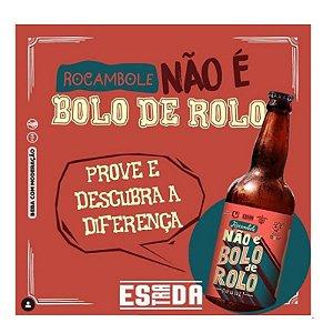 Cerveja 5 Elementos + Estrada + Urbana Rocambole, Não é Bolo de Rolo Russian Imperial Stout C/ Goiaba, Favas de Baunilha e Lactose - 500ml