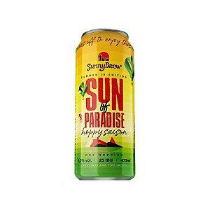 Cerveja SunnyBrew Sun Of Paradise Hoppy Saison Lata - 473ml