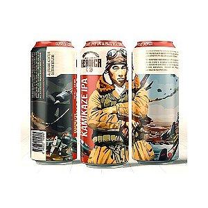 Cerveja Heróica Kamikaze IPA American IPA C/ Brotos de Bonsai Kuromatsu Lata - 473ml