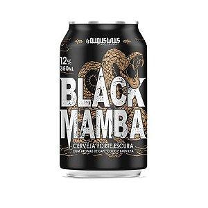 Cerveja Augustinus Black Mamba Russian Imperial Stout C/ Coco Branco, Coco Queimado, Baunilha do Tahiti e Café Lata - 350ml