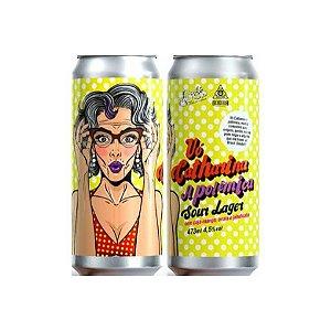 Cerveja Avós + Dogma Vó Catharina, A Polêmica Sour Lager C/ Cajá Manga, Uvaia e Jabuticaba Lata - 473ml