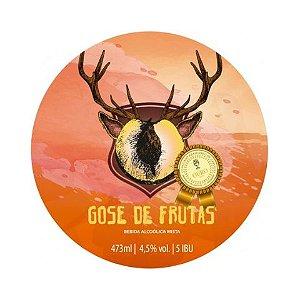 Cerveja Bodoque Gose de Frutas Gose C/ Bergamota, Goiaba, Manga e Pêssego Lata - 473ml