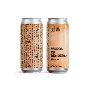 Cerveja UX Brew + Dogma Words Of Denderah Juicy Imperial IPA Lata - 473ml