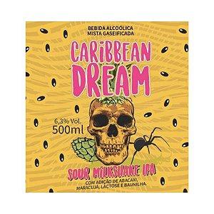 Cerveja 5 Elementos + Infected Brewing Caribbean Dream Sour Milkshake IPA C/ Abacaxi, Maracujá, Lactose e Baunilha - 500ml