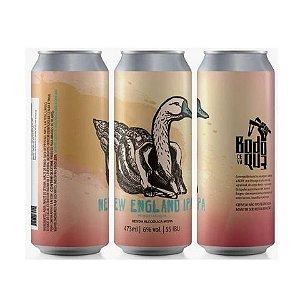 Cerveja Bodoque NEIPA Com Pêssego Milkshake IPA C/ Lactose, Baunilha e Pêssego Lata - 473ml