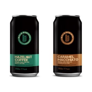 Kit Cerveja Bold Brewing Bold Barista (Hazelnut Coffee + Caramel Macchiato) Imperial Stout - 2 Latas - 350ml