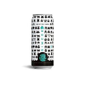 Cerveja Satélite Hop Attack Simcoe New England IPA Lata - 473ml