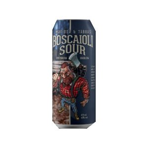 Cerveja Tábuas + Mafiosa Boscaioli Sour American Sour Ale C/ Putumuju e Jaqueira Lata - 473ml
