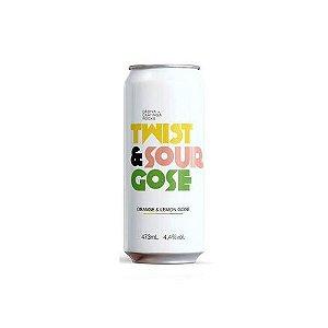 Cerveja Dádiva + Caatinga Rocks Twist & Sour Gose Gose C/ Laranja e Limão Lata - 473ml