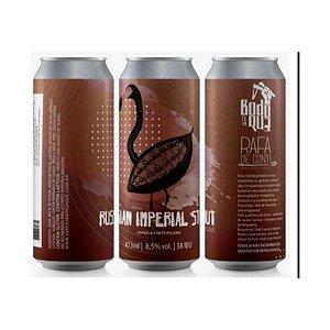 Cerveja Bodoque + Rafa Di Conti Russian Imperial Stout C/ Cacau Lata - 473ml