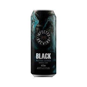 Cerveja Infected Brewing Black Nectar Imperial Stout C/ Lactose, Melato de Bracatinga, Coco Queimado, Amêndoas Tostadas e Baunilha Lata - 473ml