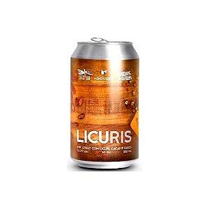 Cerveja Augustinus + Mindu Bier + Dádiva LicuRIS Russian Imperial Stout C/ Licuri, Cacau e Coco Lata - 350ml