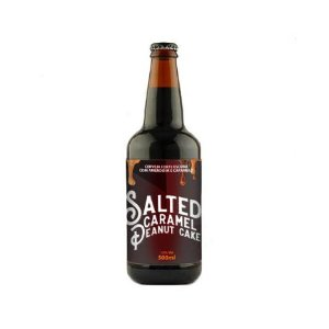 Cerveja 5 Elementos + MinduBier Salted Caramel Peanut Cake Russian Imperial Stout C/ Lactose, Baunilha, Cacau, Caramelo, Amendoim e Sal do Himalaia - 500ml