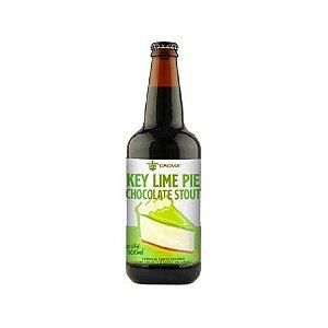 Cerveja 5 Elementos + Croma Key Lime Pie Chocolate Stout Russian Imperial Stout C/ Lactose, Baunilha, Cacau e Raspas de Limão - 500ml