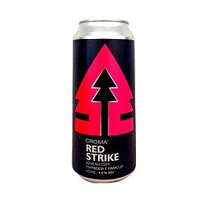 Cerveja Croma Red Strike Sour Ale C/ Framboesa e Maracujá Lata - 473ml