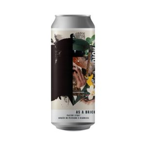 Cerveja Octopus As A Brick Pastry Stout C/ Pistache e Baunilha Lata - 473ml
