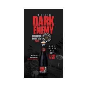 Cerveja Infected Brewing Dark Enemy Bourbon Barrel Aged 2019 Belgian Dark Strong Ale C/ Brettanomyces - 375ml