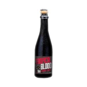Cerveja Infected Brewing Tropical Blood Wine Barrel Aged 2019 -Berliner Weisse C/ Frutas Vermelhas e Casca de Laranja - 375ml