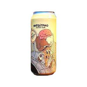 Cerveja Locals Only Brewing Co Napolitano Pastry Sour C/ Morango, Cacau, Baunilha e Lactose Lata - 473ml